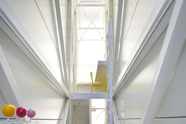 Inside The Keret House, Warsaw, Poland