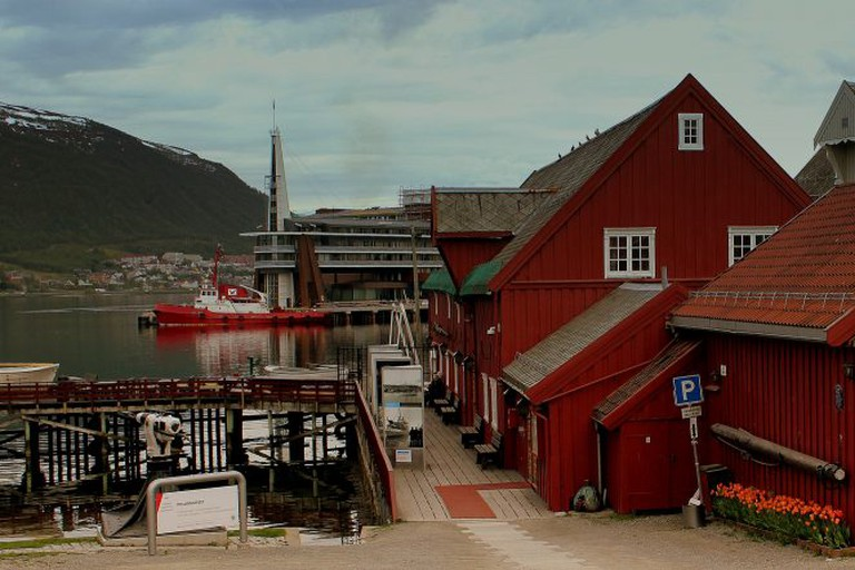 POLAR MUSEUM TROMSO HARBOUR NORWAY JUNE 2014