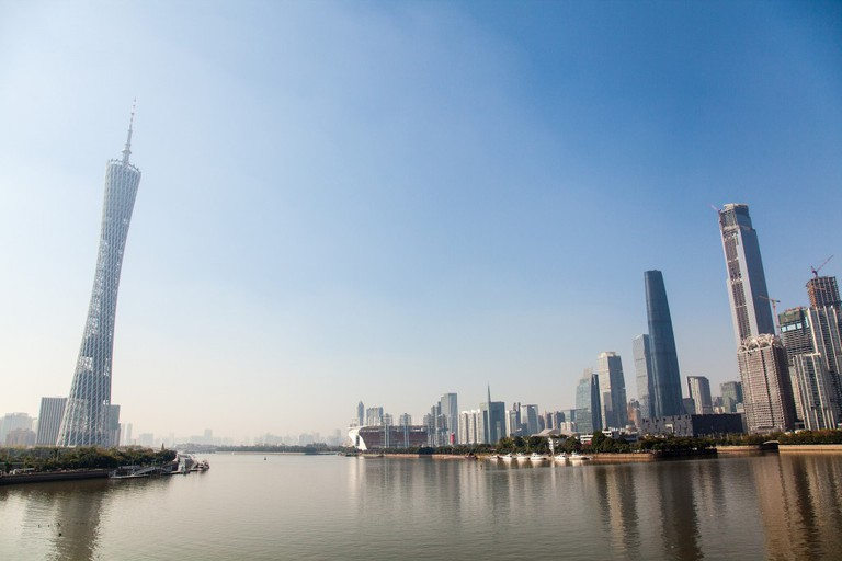 Guangzhou Skyline, Canton Tower (Left)