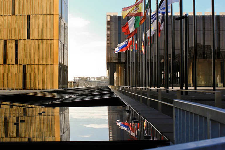 Outside the European Court of Justice, Kirchberg, Luxembourg
