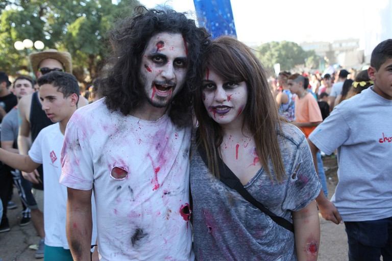 Purim zombies in Tel Aviv