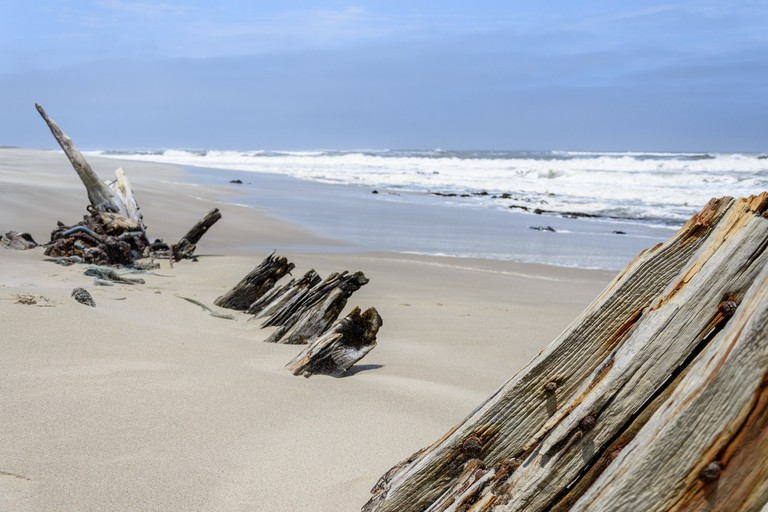 Part of a shipwreck on the Skeleton Coast