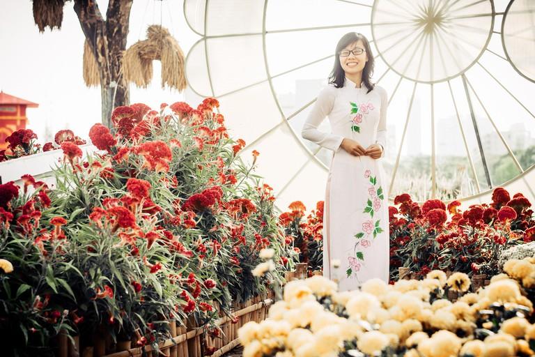 Floral Ao dai