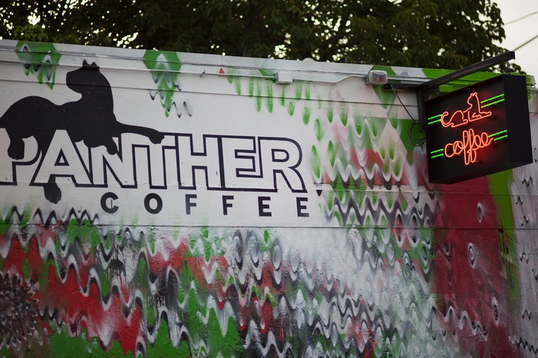 Enjoy a pick-me-up at Panther Coffee