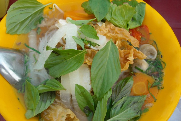 Fragrant and delicious vegetarian pho
