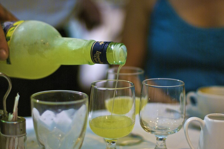 Enjoy limoncello at Ristorante Limoncello