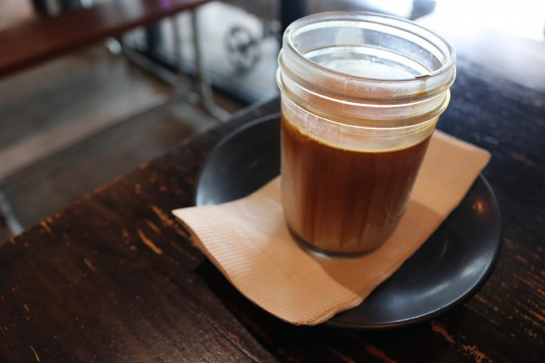El brown at Factory Coffee