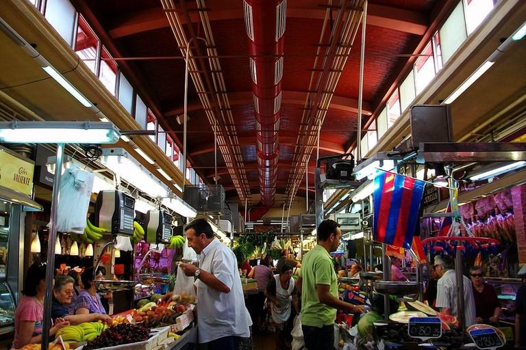 Shopping at El Cabanyal Market, Valencia