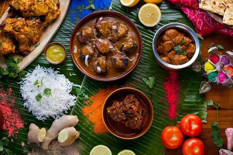 A delicious Indian spread at Austur-Indíafjelagið