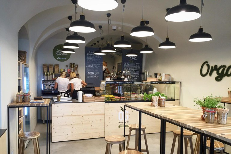 Welcoming ambiance of the Organic Garden Restaurant