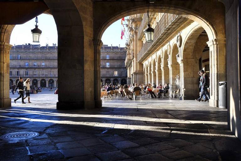 Pavement cafes in Salamanca