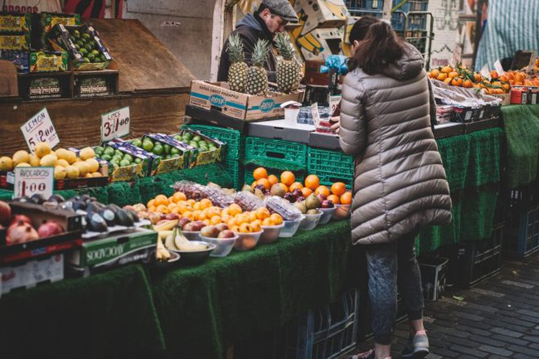 Shopping some veggies at the market