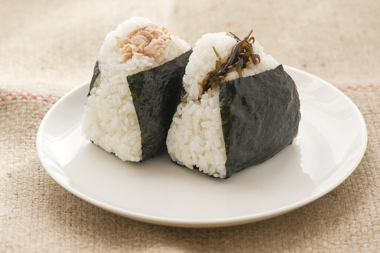 Salmon Food Japan Japanese Food Rice Ball Diet