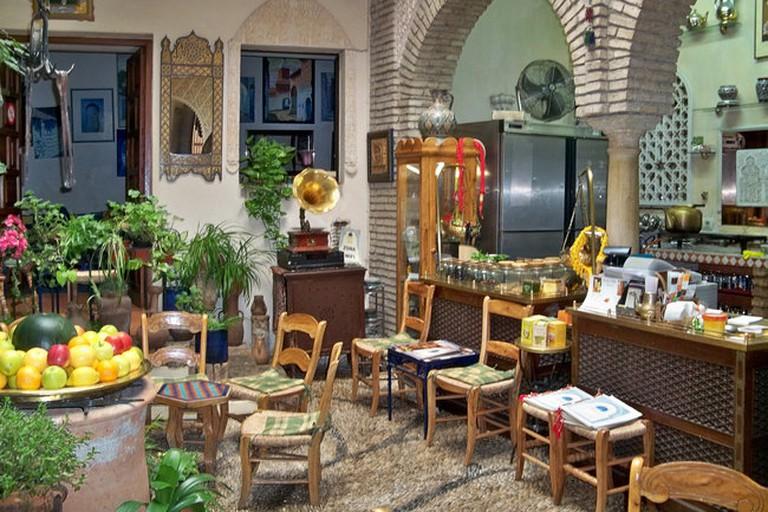 The beautiful Cordoban patio of Salon de Té