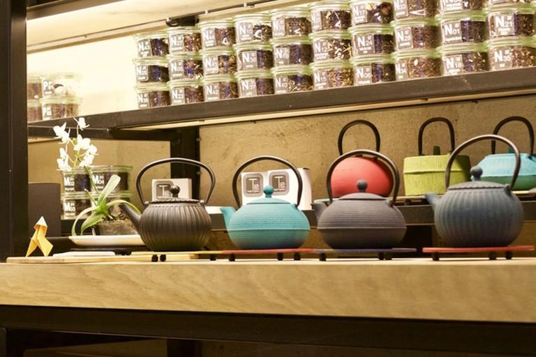 A large choice of unique teas at Tamatebako