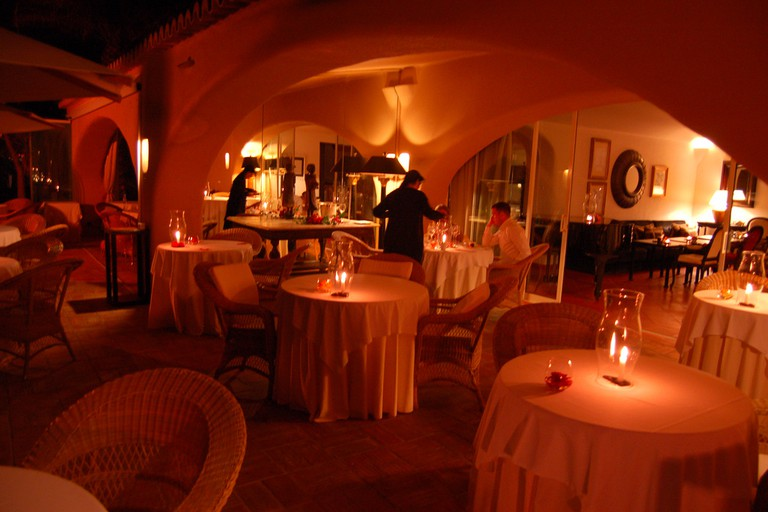 Enjoy the romantic nighttime setting at Vila Joya