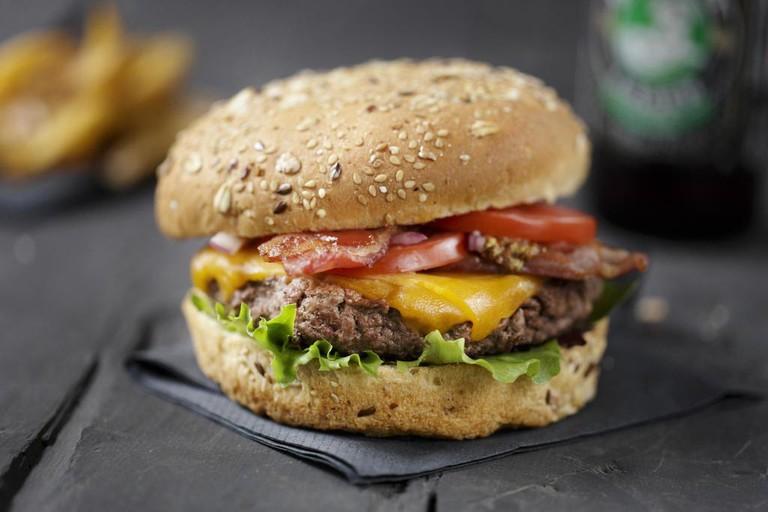 Tasty burger at GUY&SONS