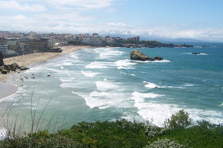 Dream-like scenery at Biarritz Grand Plage