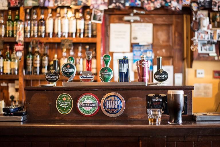 beer selection at a bar