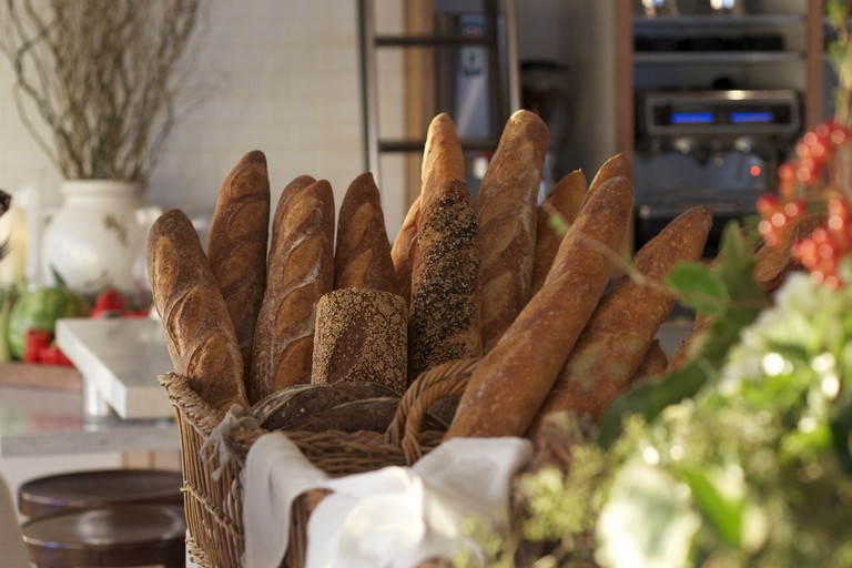 Fresh bread at Mayfield Bakery & Cafe