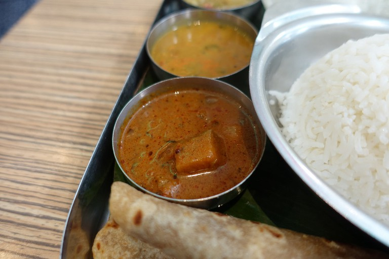 South Indian Thali at Sangeetha Paris