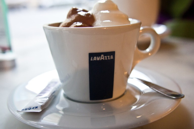 Quality Lavazza coffee drink