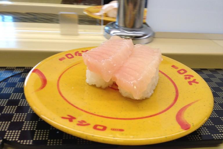 Enjoy fast sushi at Sushiro