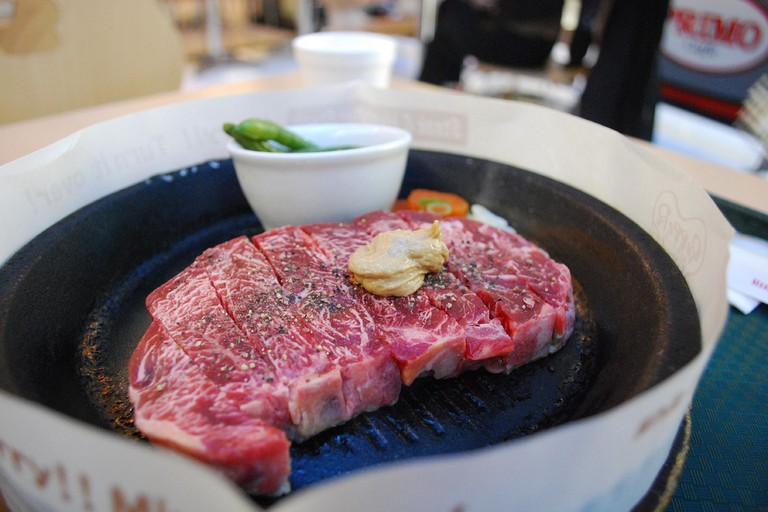 Pepper Lunch steak and hotplate