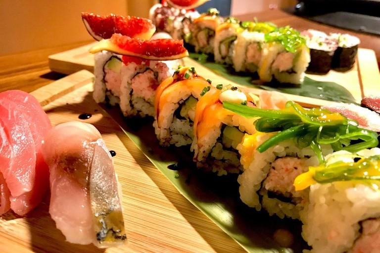 Colourful sushi rolls