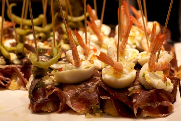 Basque-style snacks are the speciality at La Taberna del Pintxo