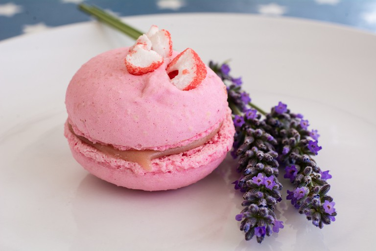 Strawberry macaron from Pâtissier Chocolatier J. David