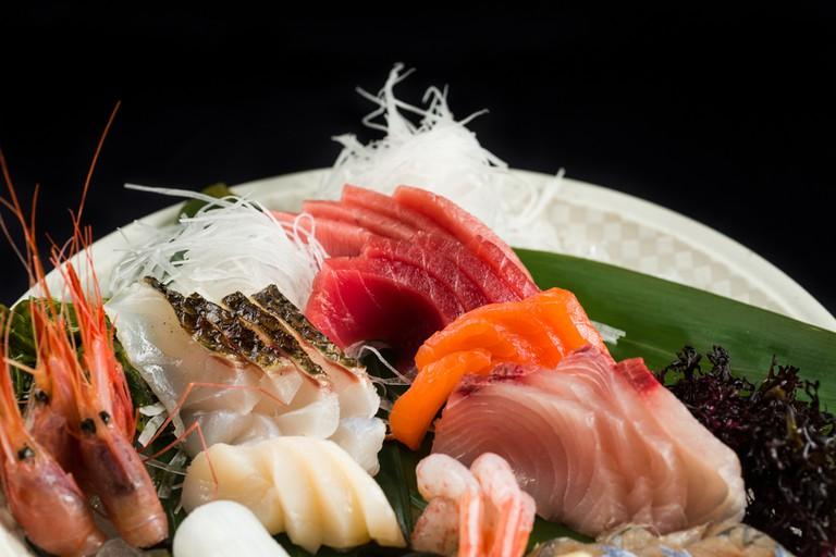 Sashimi at Komori Restaurant, Valencia