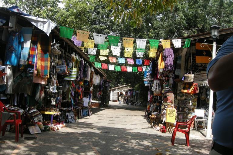 Flea market vendors
