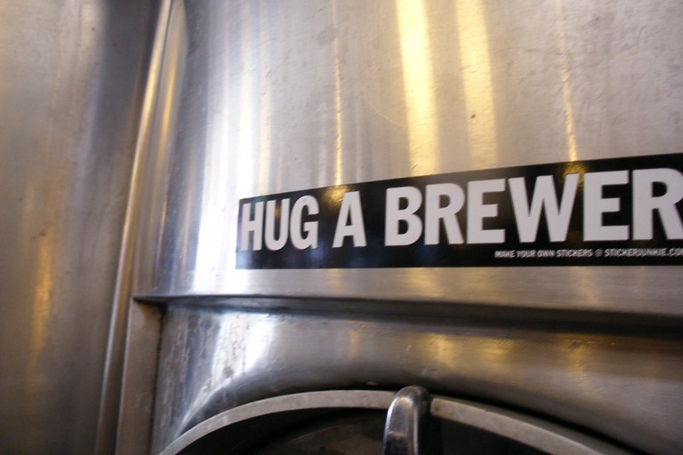 When the beer is that good, you want to hug your brewer