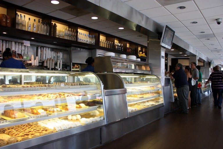 Bakery counter at Kasalta