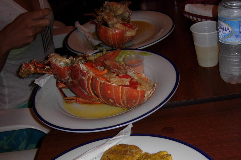 Lobster, octopus salad and tostones at Tito's