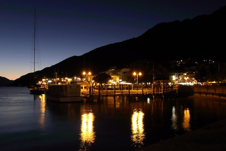 Queenstown Wharf by Night