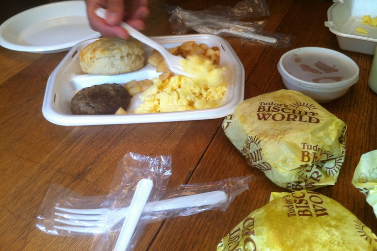 Breakfast from Tudor's Biscuit World