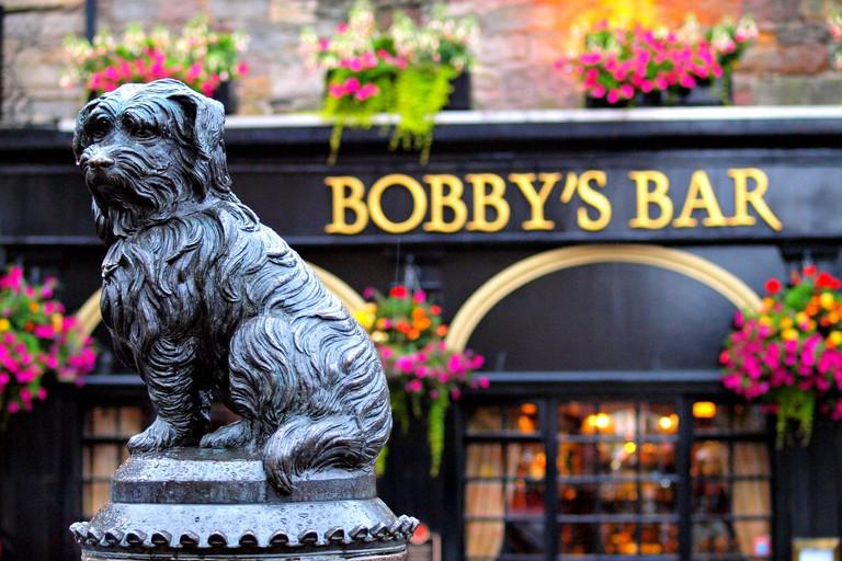 Greyfriars Bobby in Edinburgh Scotland