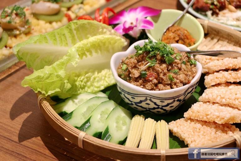 Delicious northern Thai platter
