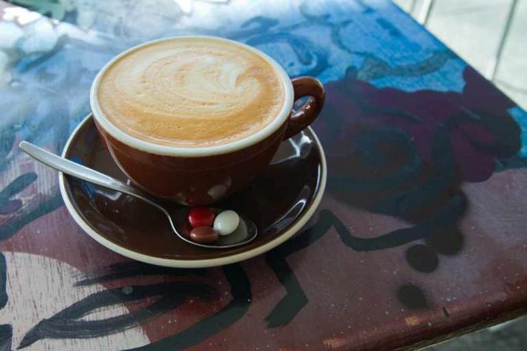 Delicious coffee at Revel Café
