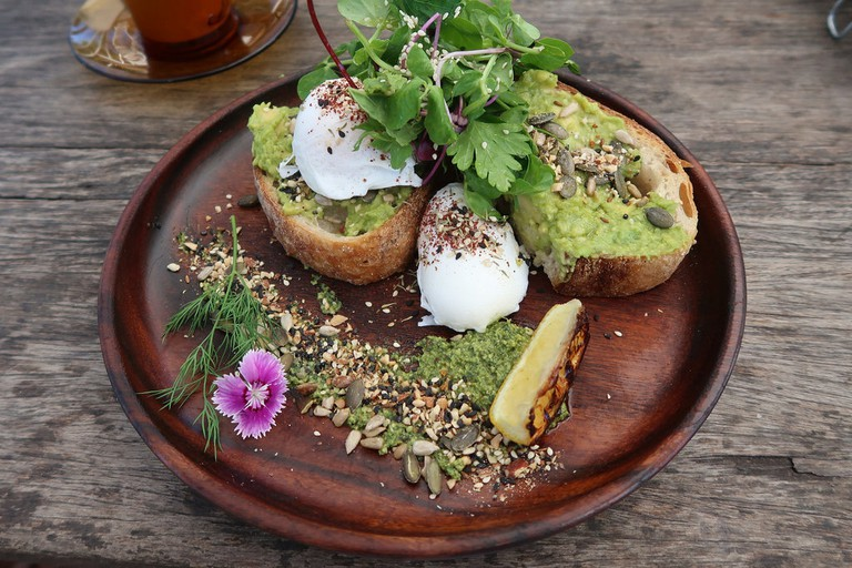 Avocado toast at Folk