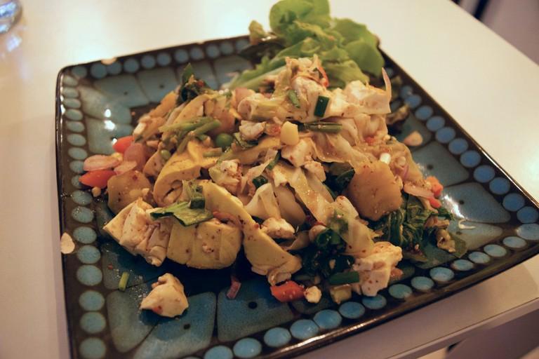 Vegetarian laab salad at Bueno @ Basement