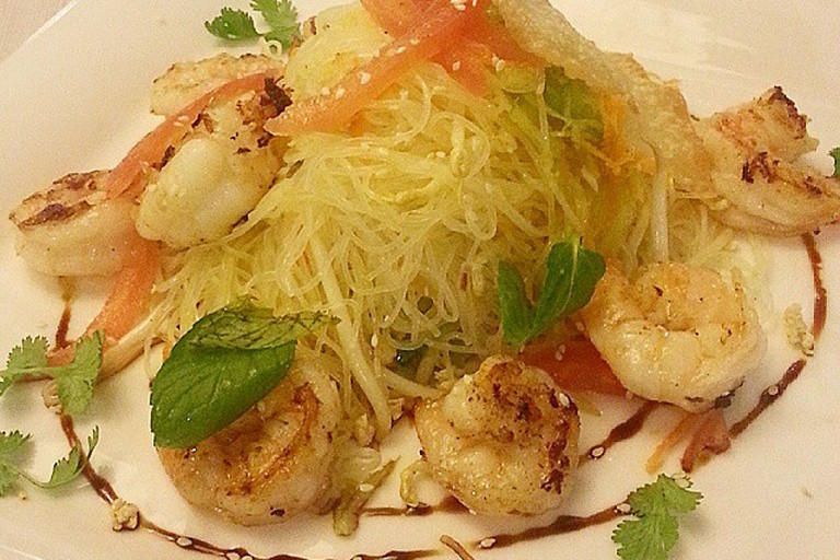 Shrimp and glass noodles
