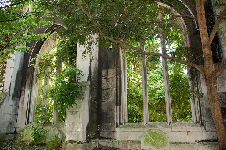 Discover an ancient church amongst the flower beds