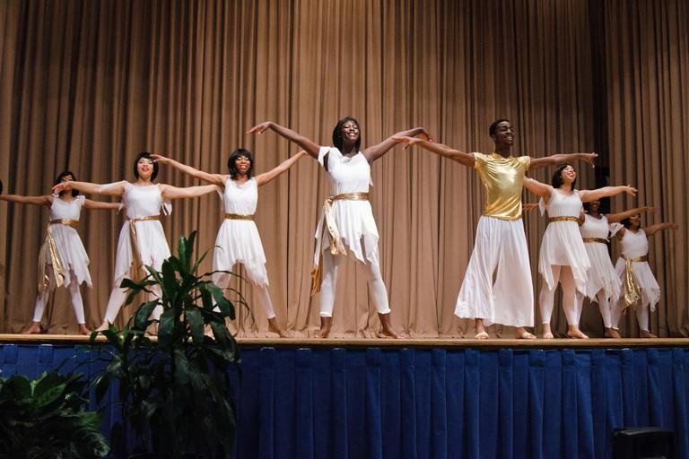 The Virginia State University Sankofa Dance Theatre performance