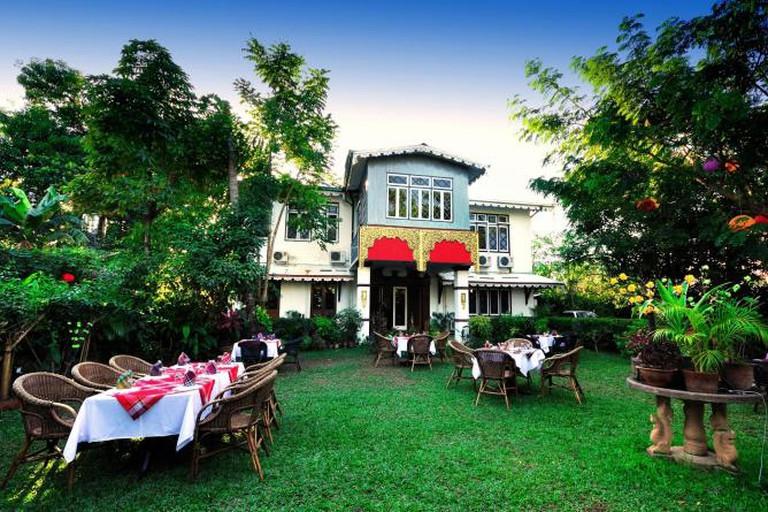 The restaurant and garden