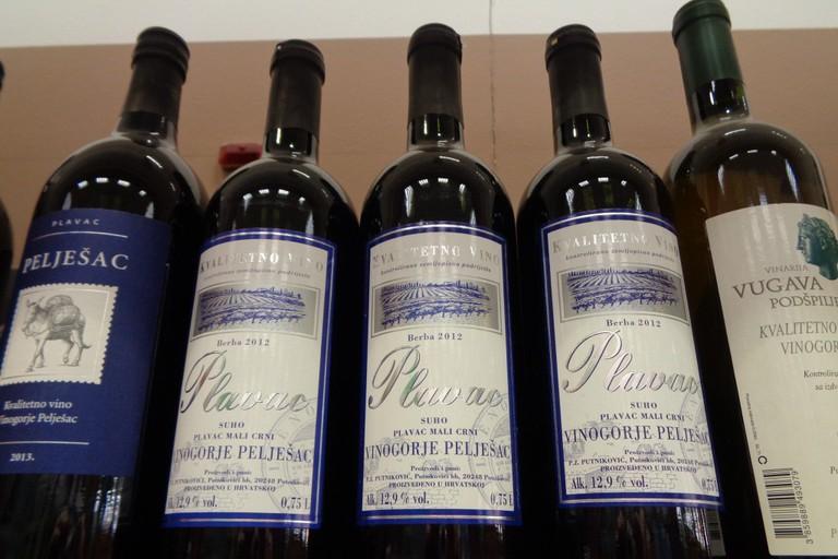 Plavac mali wine