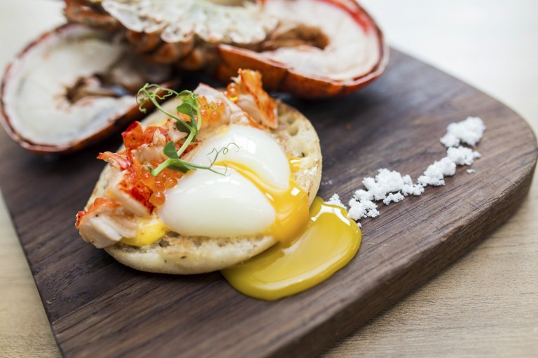 Lime Restaurant's Super Lunch Sunday serves up dishes like lobster eggs Benedict