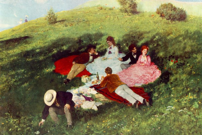 Szinyei Merse, Pál - Picnic in May (1873)